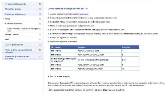 Configuración GMail Google Apps - 1and1
