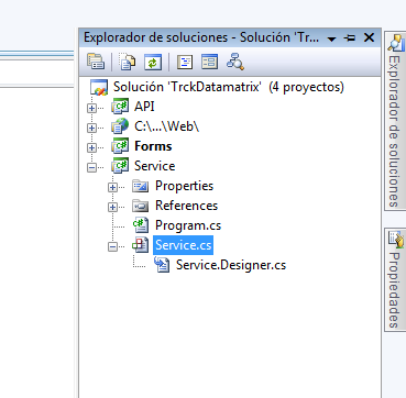 Nuevo proyecto de Windows Service