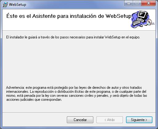 Web Setup: Asistente de instalación